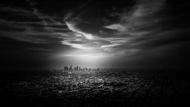 "This work, ""Downtown Sky"", is a derivative of ""Downtown L.A."" by mLu.fotos (www.flickr.com/photos/luppes777/), used under CC BY. ""Downtown Sky"" is licensed under CC BY by Derek Wasyliszyn."